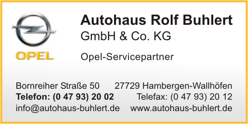 autohaus rolf buhlert gmbh co kg in hambergen branche n automobile